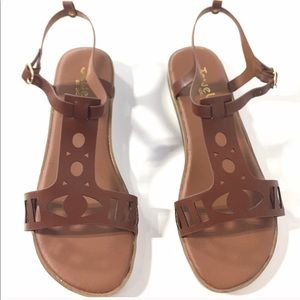 Jewels by Jade Cognac NWT Sandals